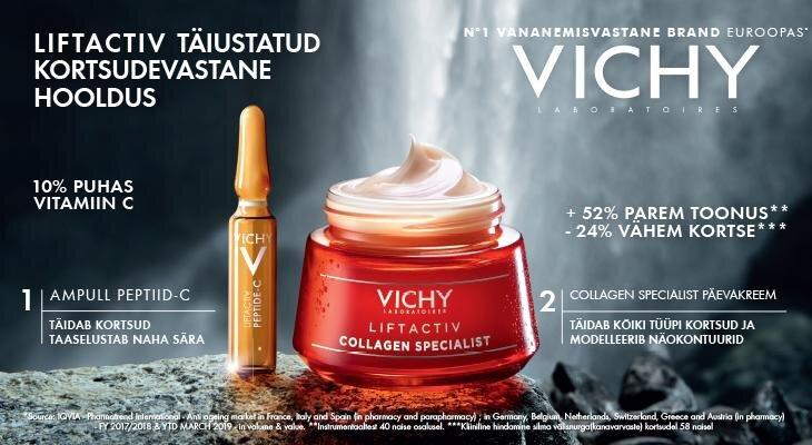 Apteeker testib  Vichy  vananemisvastaseid tooteid