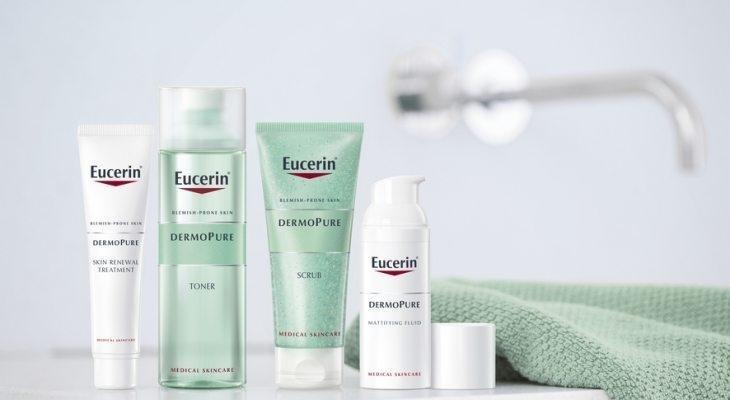 Eucerin Dermo Pure kosmeetika akne ja vistrike vastu